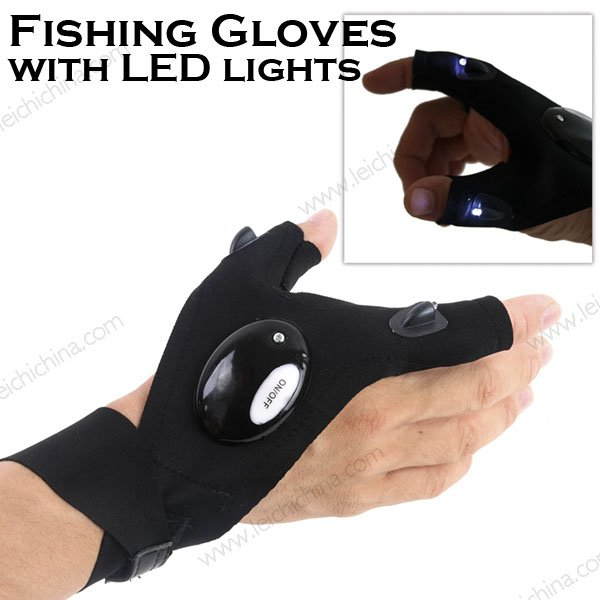 Fishing Gloves with LED Lights
