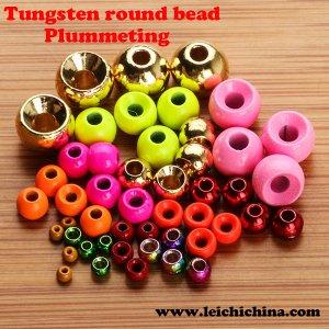 Plummeting tungsten round bead