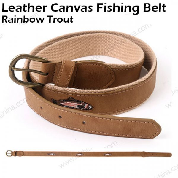 Leather Canvas Fishing Belt