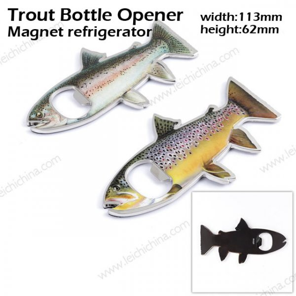 Trout bottle opener
