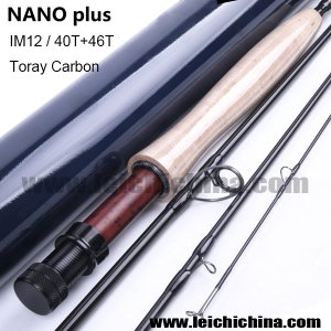 IM12/40T+46T Toray carbon fly rod Nano Plus Series