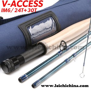 IM6/24T+30T SK carbon fiber fly fishing rod V-access series