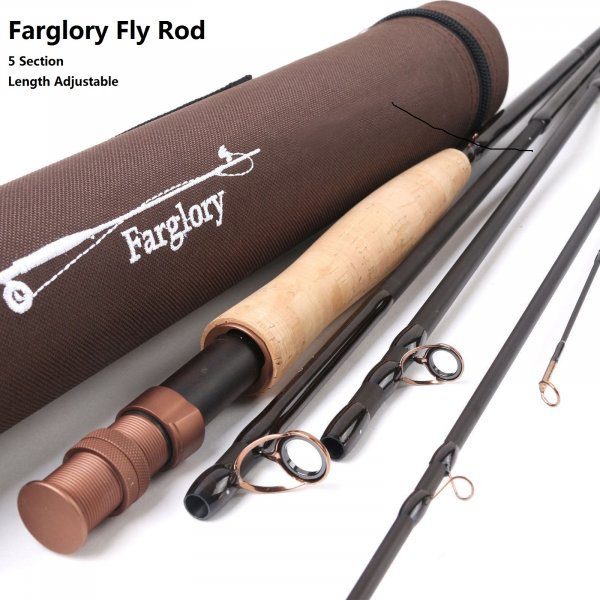 IM8/30T+36T SK carbon Length Adjustable Nymph Fly Rod Farglory Series