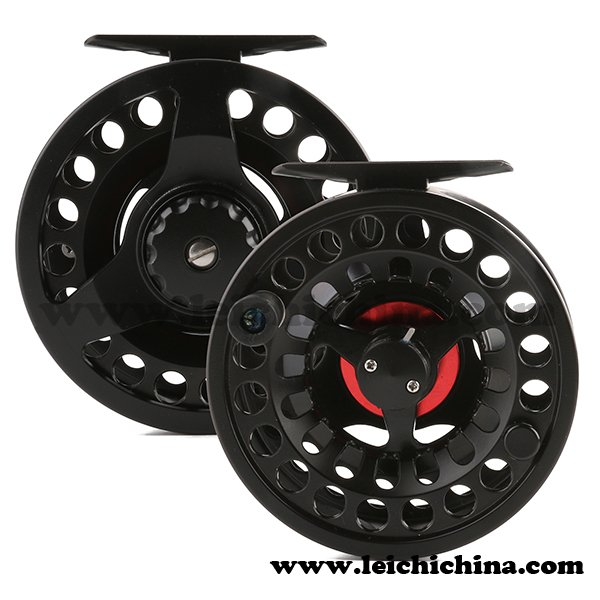Die-casting and machine cut combined fly fishing reel DM