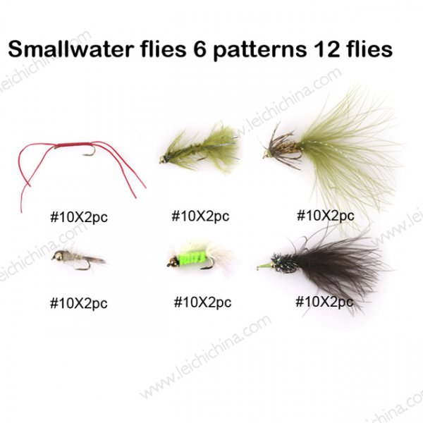 Smallwater flies 6 patterns 12 flies