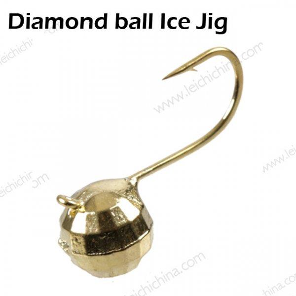Diamond ball Ice Jig