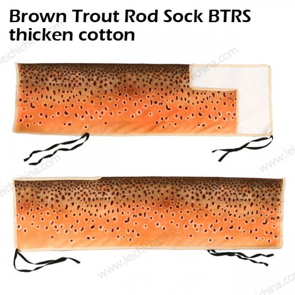 Brown Trout Rod Sock BTRS thicken cotton