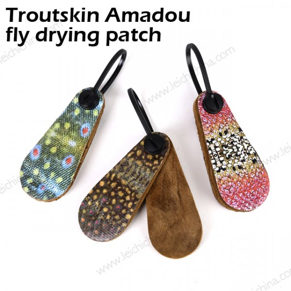 Troutskin Amadou fly drying patch