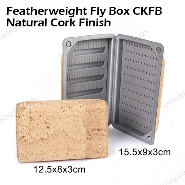 Featherweight Fly Box CKFB  Natural Cork Finish