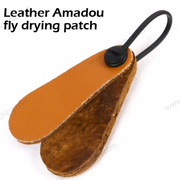 Leather Amadou fly drying patch