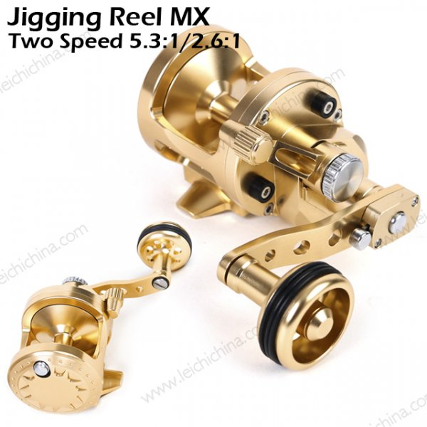 Jigging Reel MX two speed 5.3:1  2.6:1