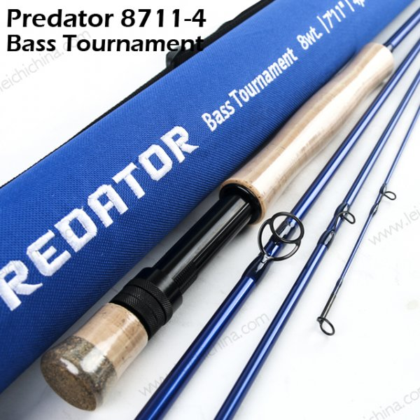 predator bass tournament fly rod 8711-4