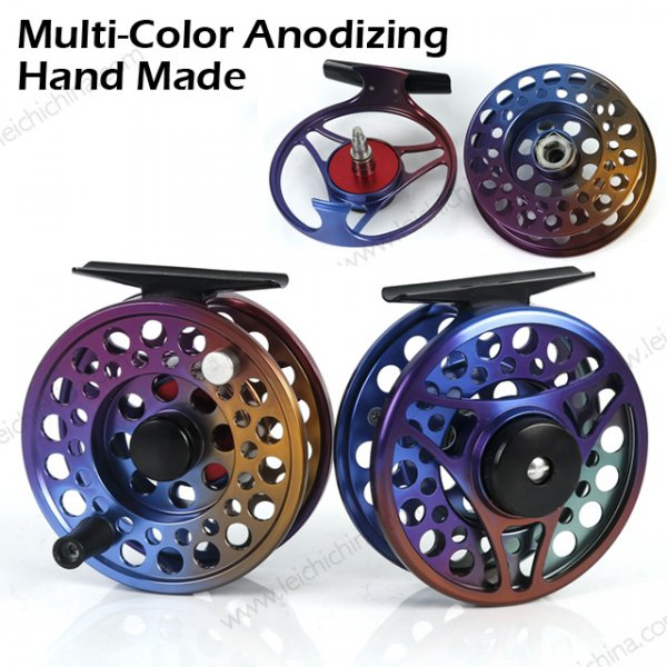 multi color fly reel
