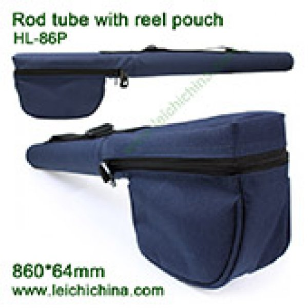 Fly fishing rod tube with reel pouch HL-86P