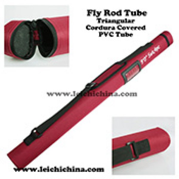 Triangular Cordura Covered PVC fly fishing rod Tube