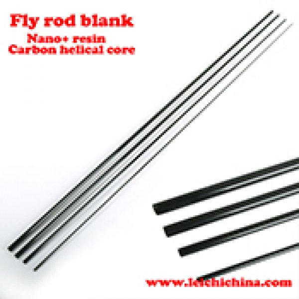 Nano Resin carbon helical core fly rod blank