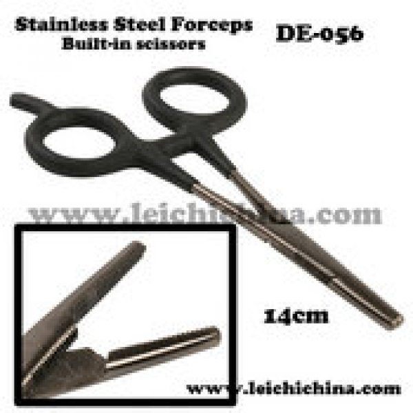 14cm stainless steel built-in Scissors Forceps  DE056