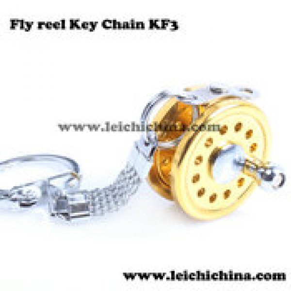 fly fishing reel key chain KF3