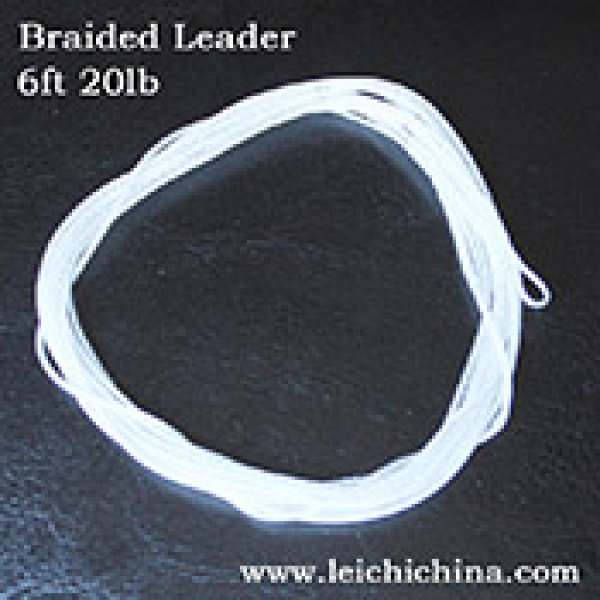 Braided leader for fly fishing
