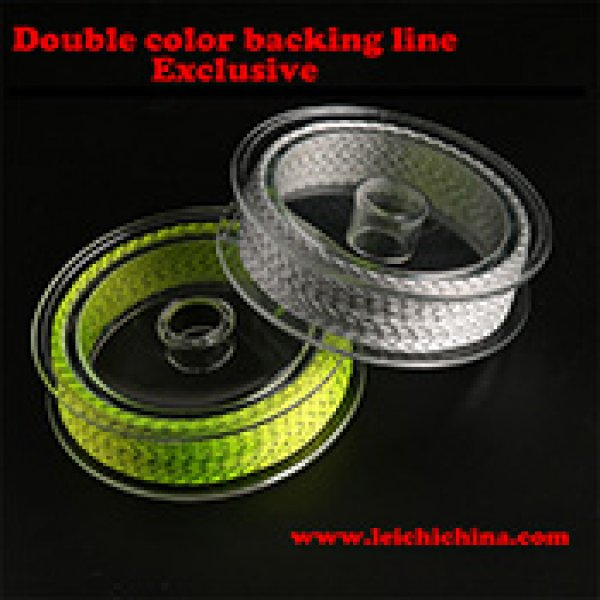 Double color Braided fly fishing backing line