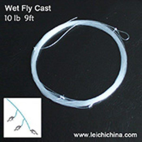 Wet fly cast (multi-shot leader)