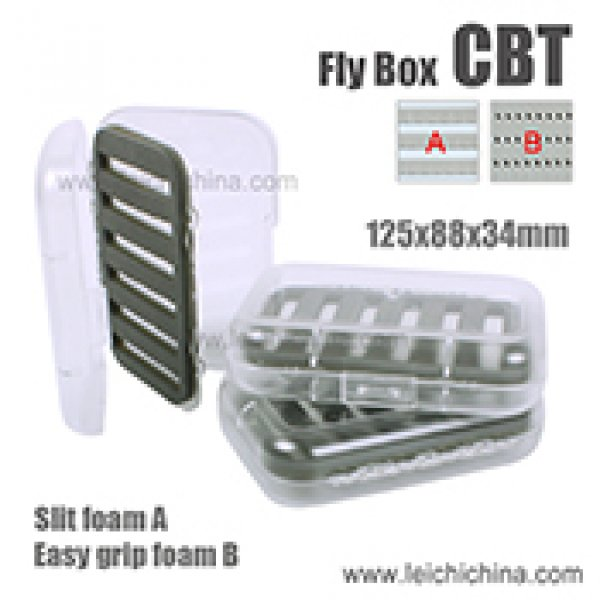 Transparent swingleaf fly box