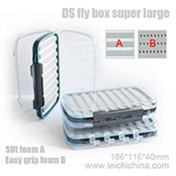 DS fly box super large with slit foam