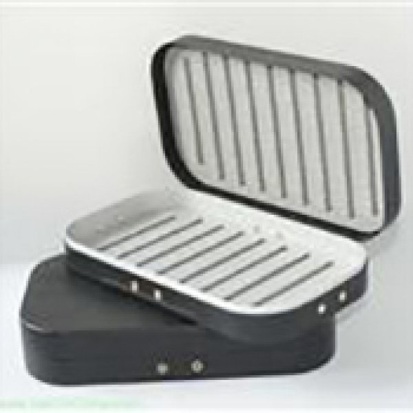 Aluminum fly box in black color