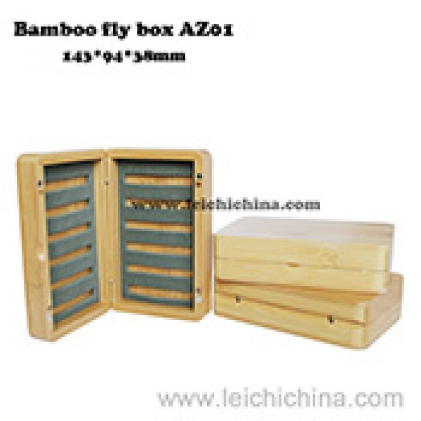 Top quality bamboo fly box AZ01