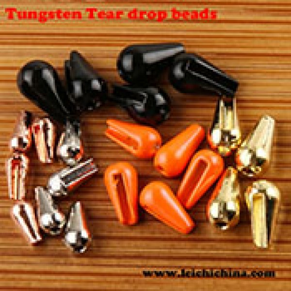 Tungsten tear drops beads