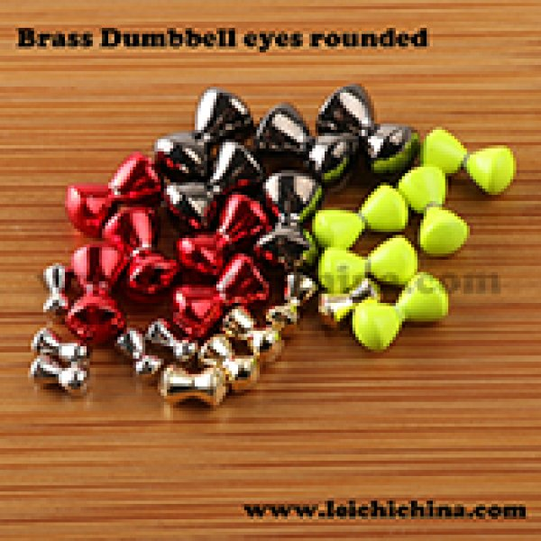 Brass rounded eye dumbell