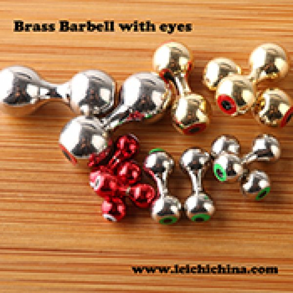 Brass Barbell with eyes