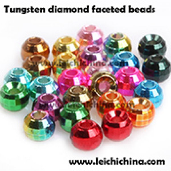 Tungsten diamond faceted beads