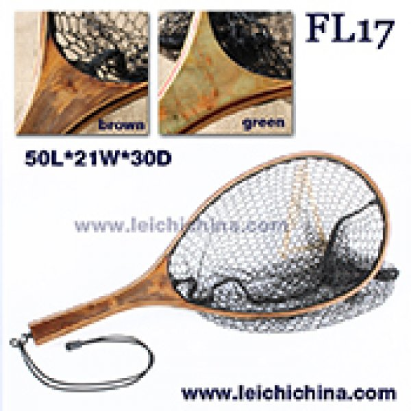 Small burl wood hand fly fishing trout net F17