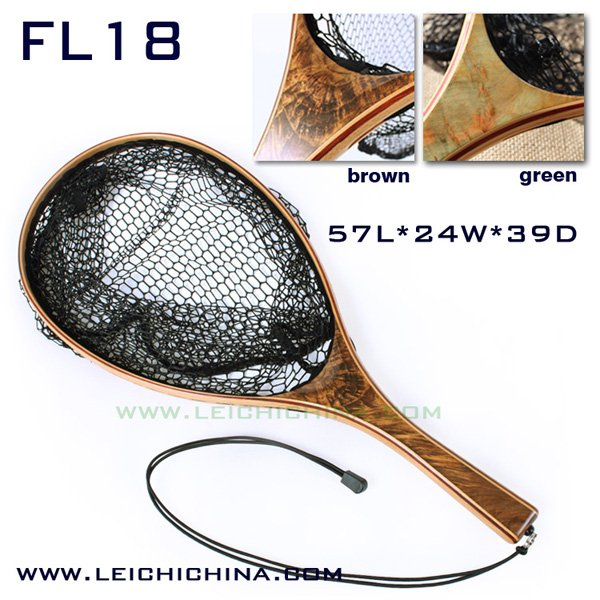 Top quality burl wood hand fly fishing trout net