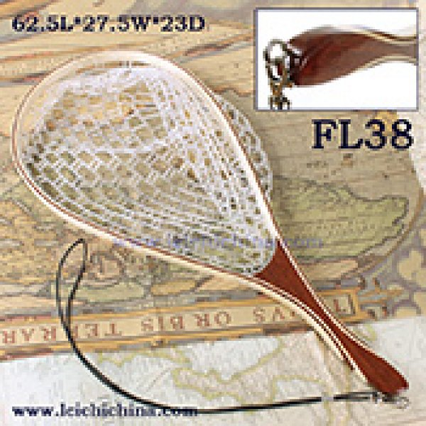 Hand-fitting handle rubber trout net FL38