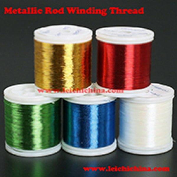 Metallic rod winding thread