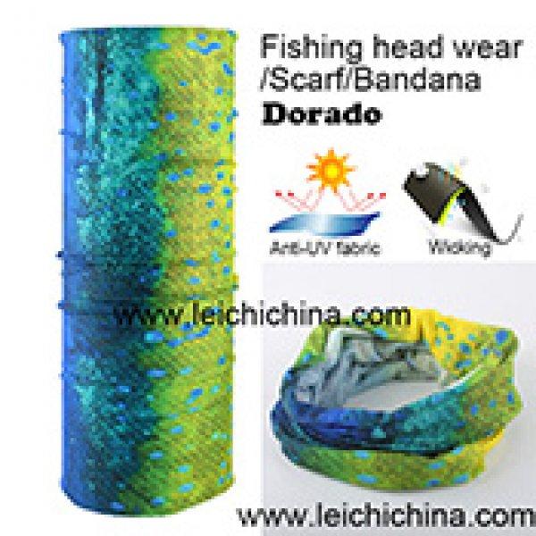 Anti UV wicking Dorado fishing head wear scarf bandana