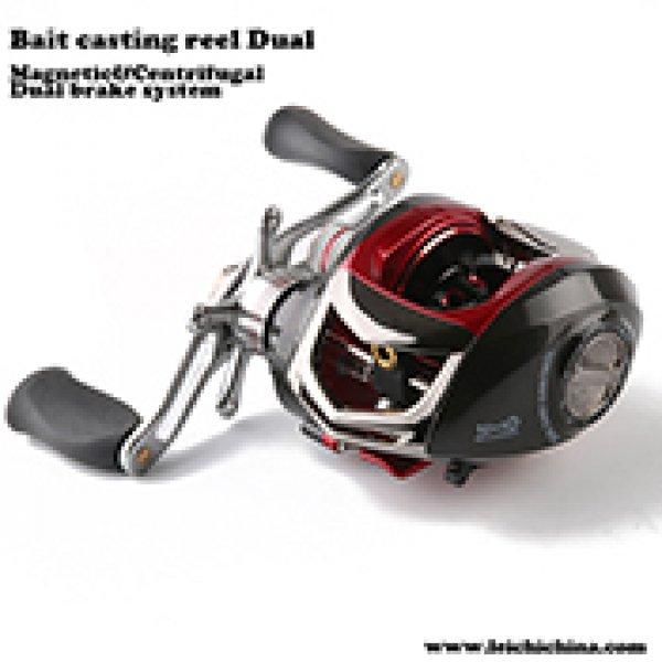 Dual cast control bait casting reel Dual