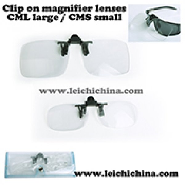 Clip on magnifier lenses