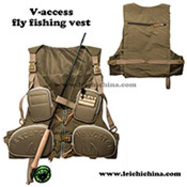fly fishing vest V-access