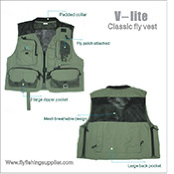 v-lite fly fishing vest