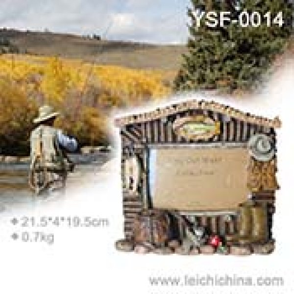 Resin fishing picture frame YSF014