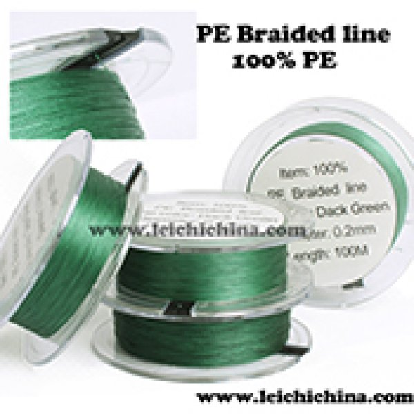 100% PE dyneema braided fishing line