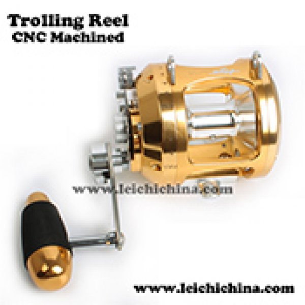 CNC machined trolling reel