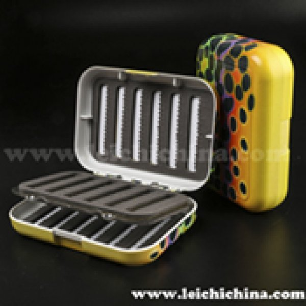 Brown Trout Skin Pattern Fly Box