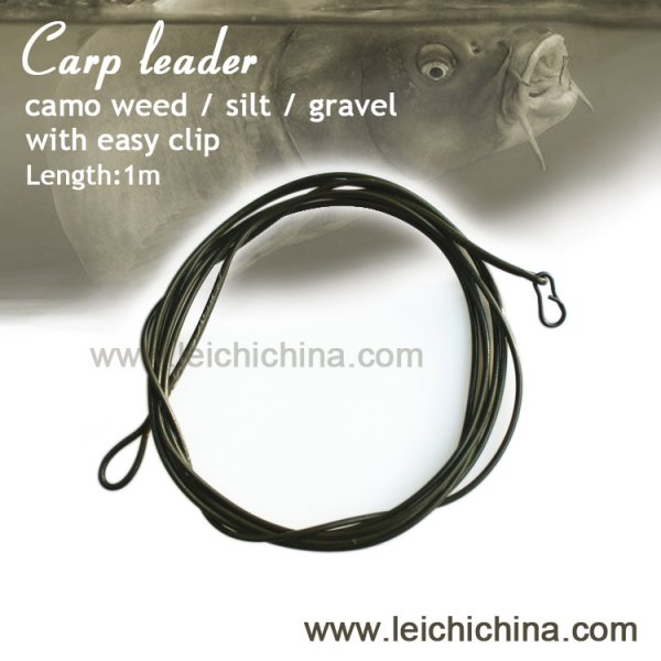 carp fishing poly leader with easy clip