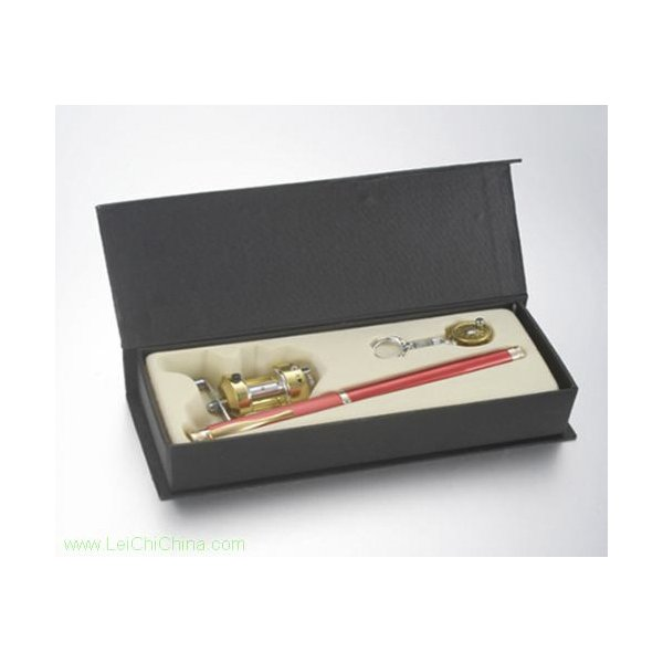 pen-shaped fishing rod set cardboard box