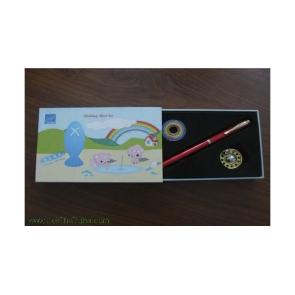 pen-shaped fishing rod set cartoon box