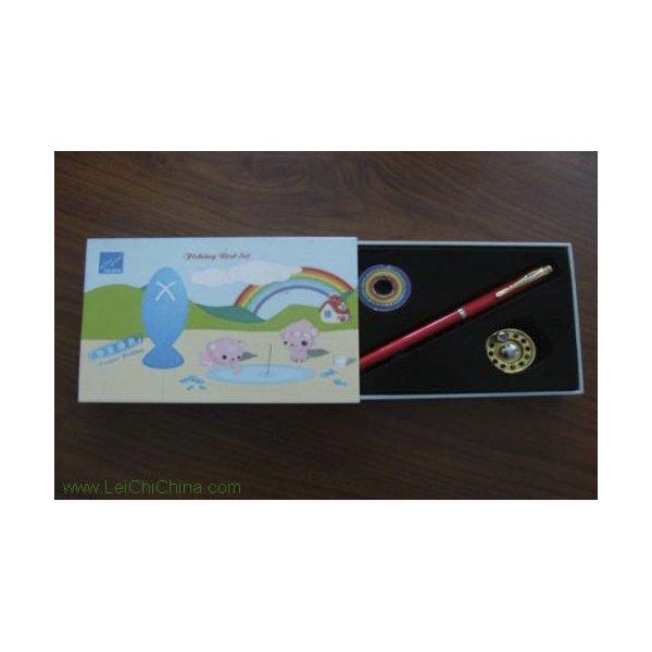 pen-shaped fishing rod set cartoon box